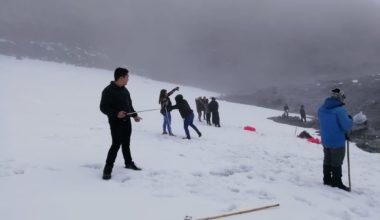 Snowy Santa Isabel-Start Ascent