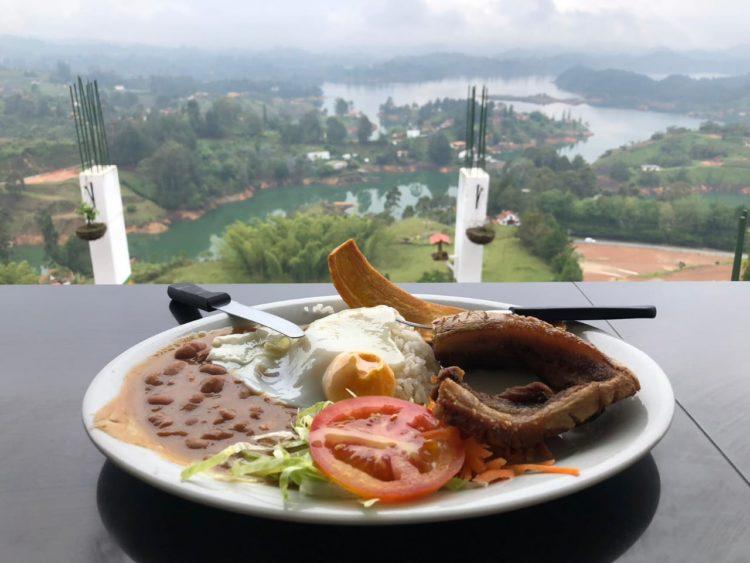 Guatape tour food