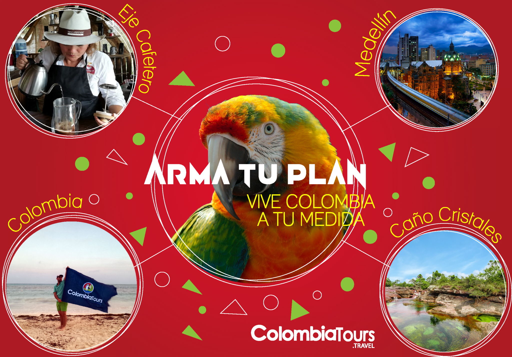 Plan your vacations with ColombiaTours.Travel