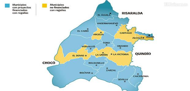 Map of the North of the department of Valle de Cauca