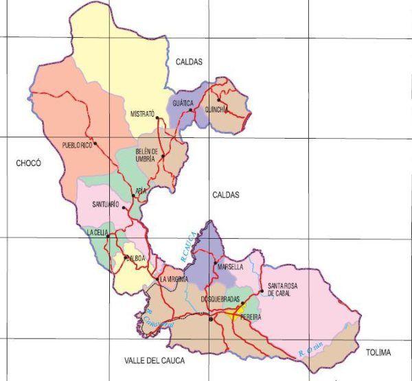 Risaralda Map
