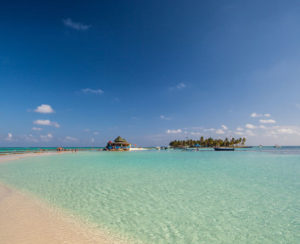 Panoramic view of Johnny Cay